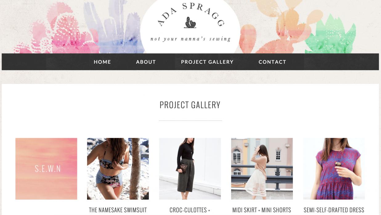 A D A  S P R A G G - DIY fashion & Sewing  - student project