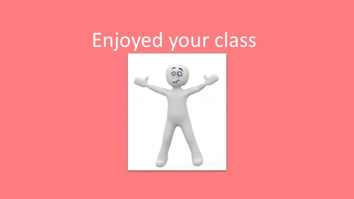 I enjoyed your class - student project