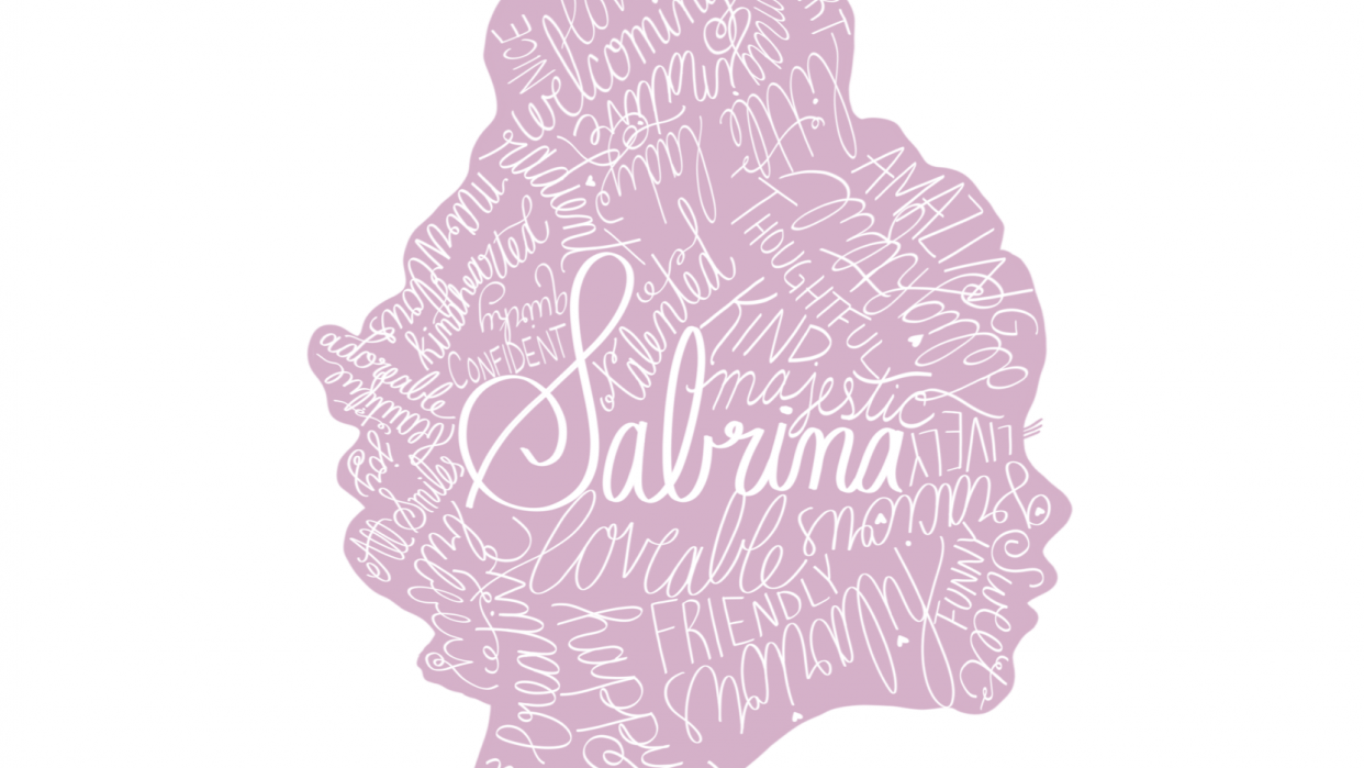 Hand Lettered Silhouette - student project