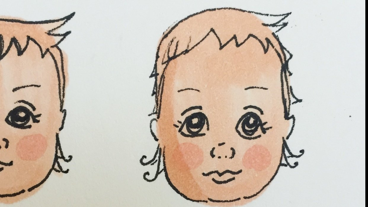 Baby face - student project
