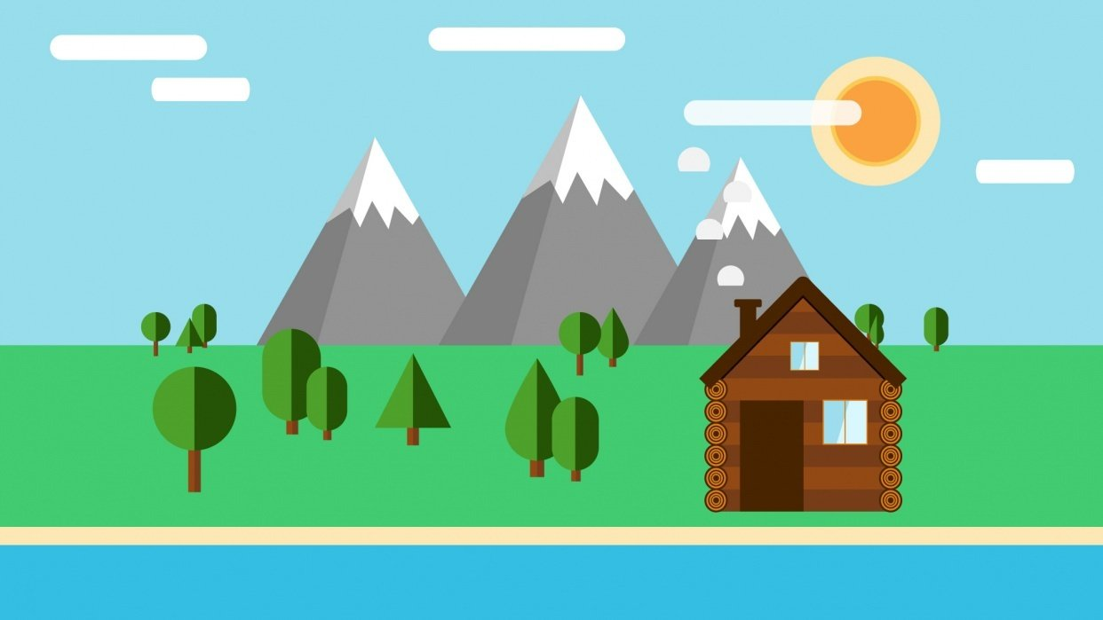How To Create A Flat Design Landscape in Affinity Designer - student project