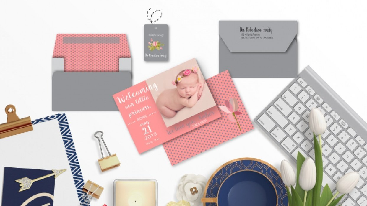 Birth Announcement - student project