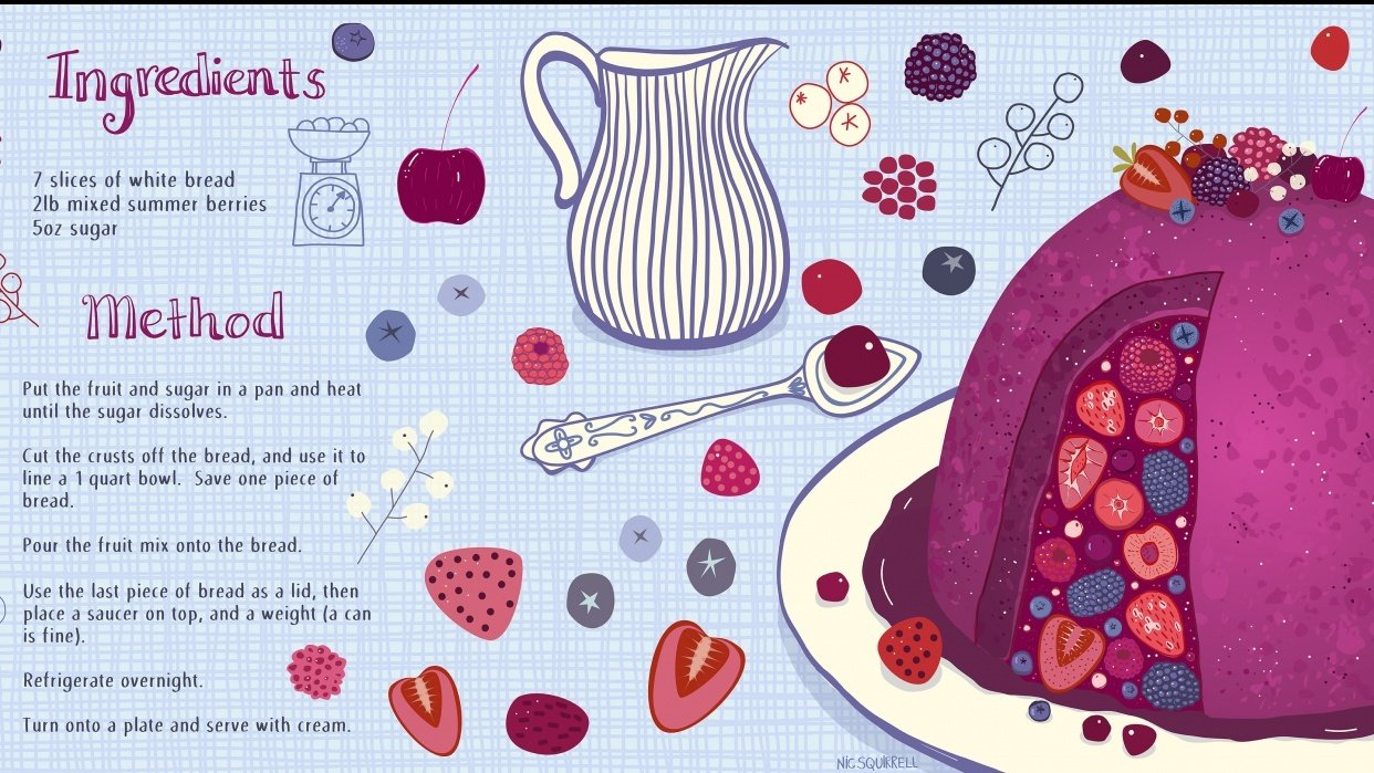 Summer Pudding - student project