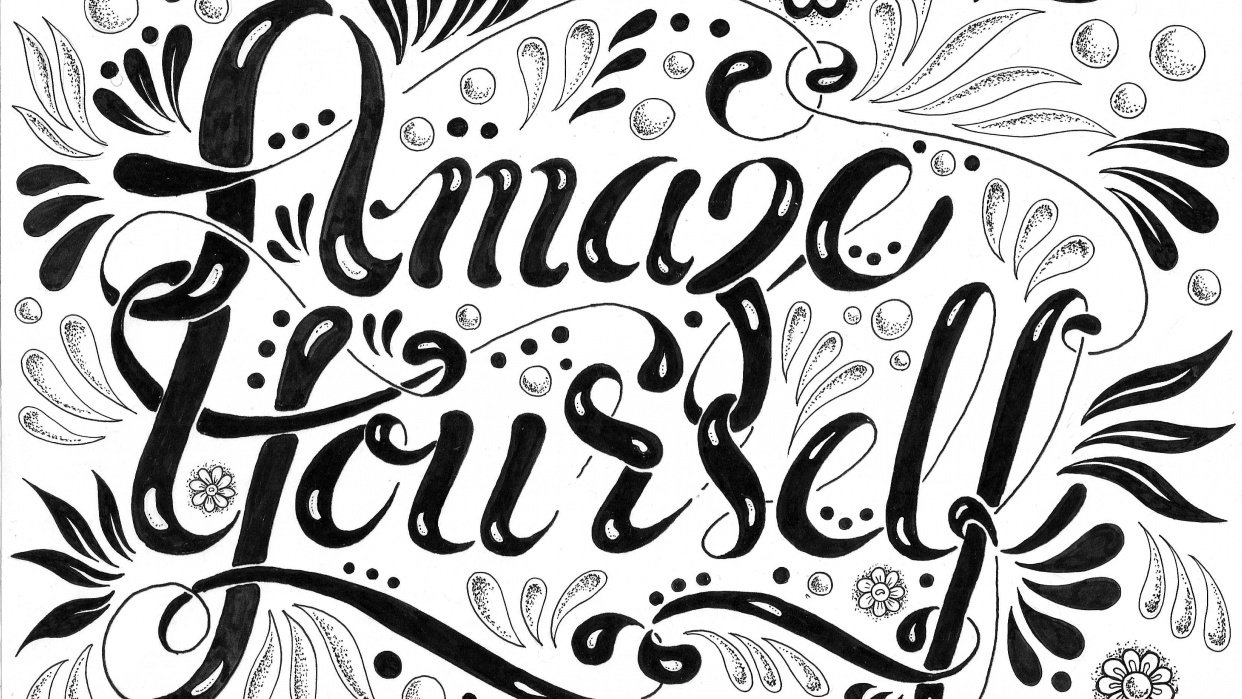 Hand Lettering Steps and Version Ideas - student project