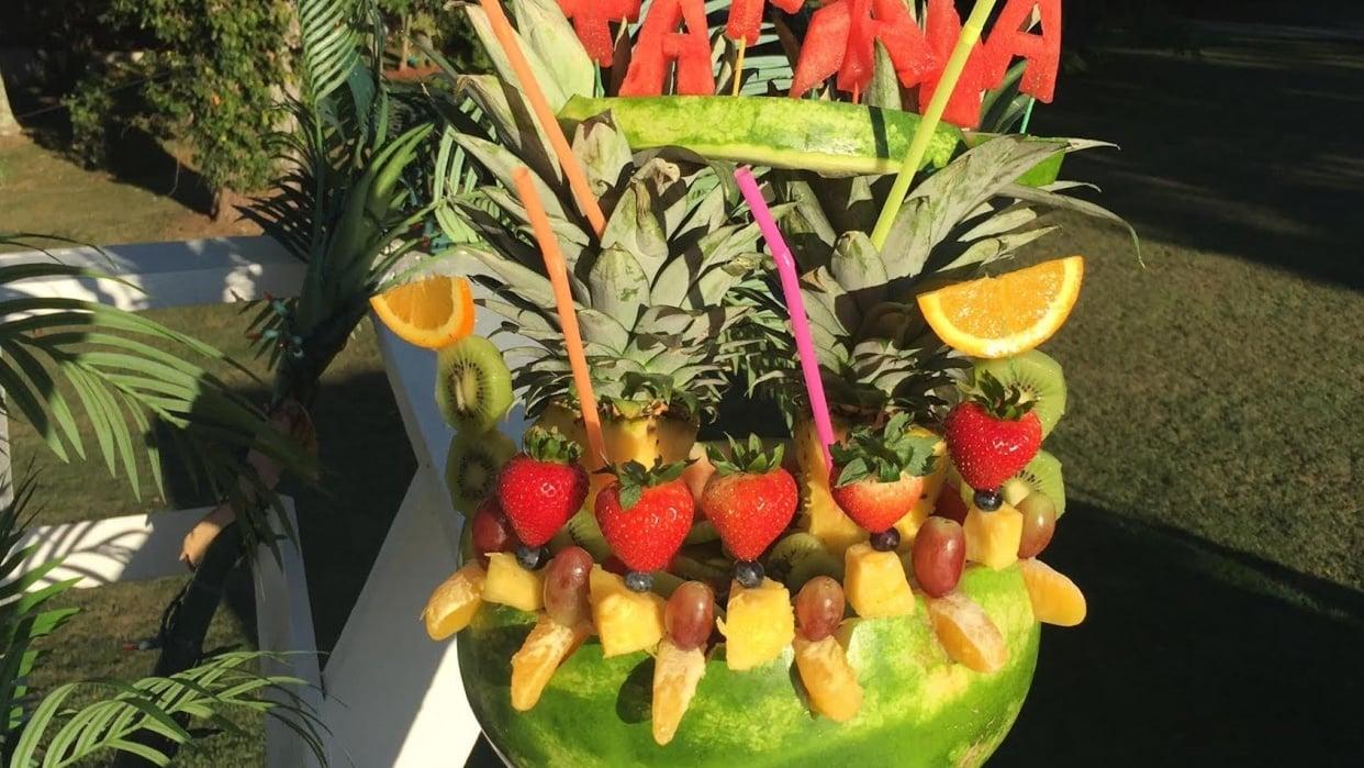 Final Watermelon Fruit Arrangement Touches - student project