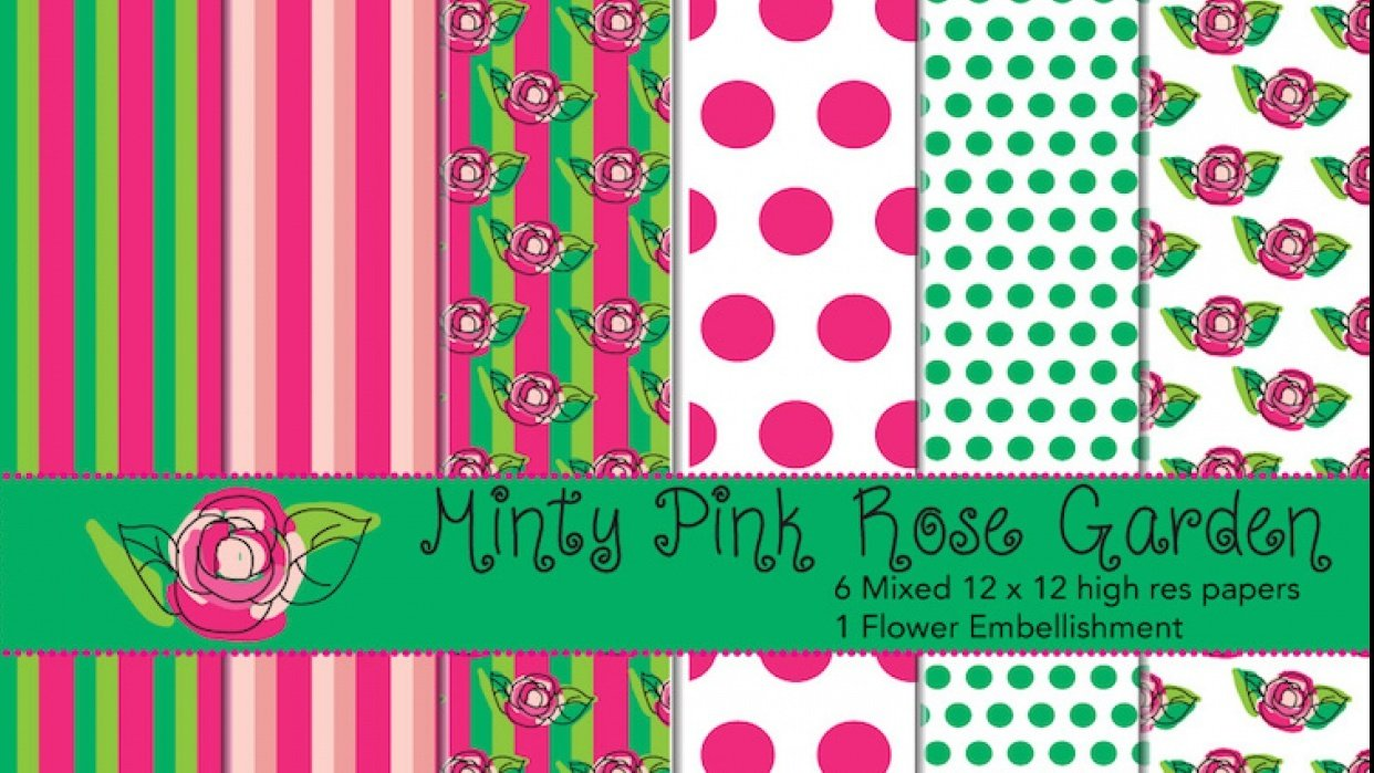 Minty Rose Garden - student project