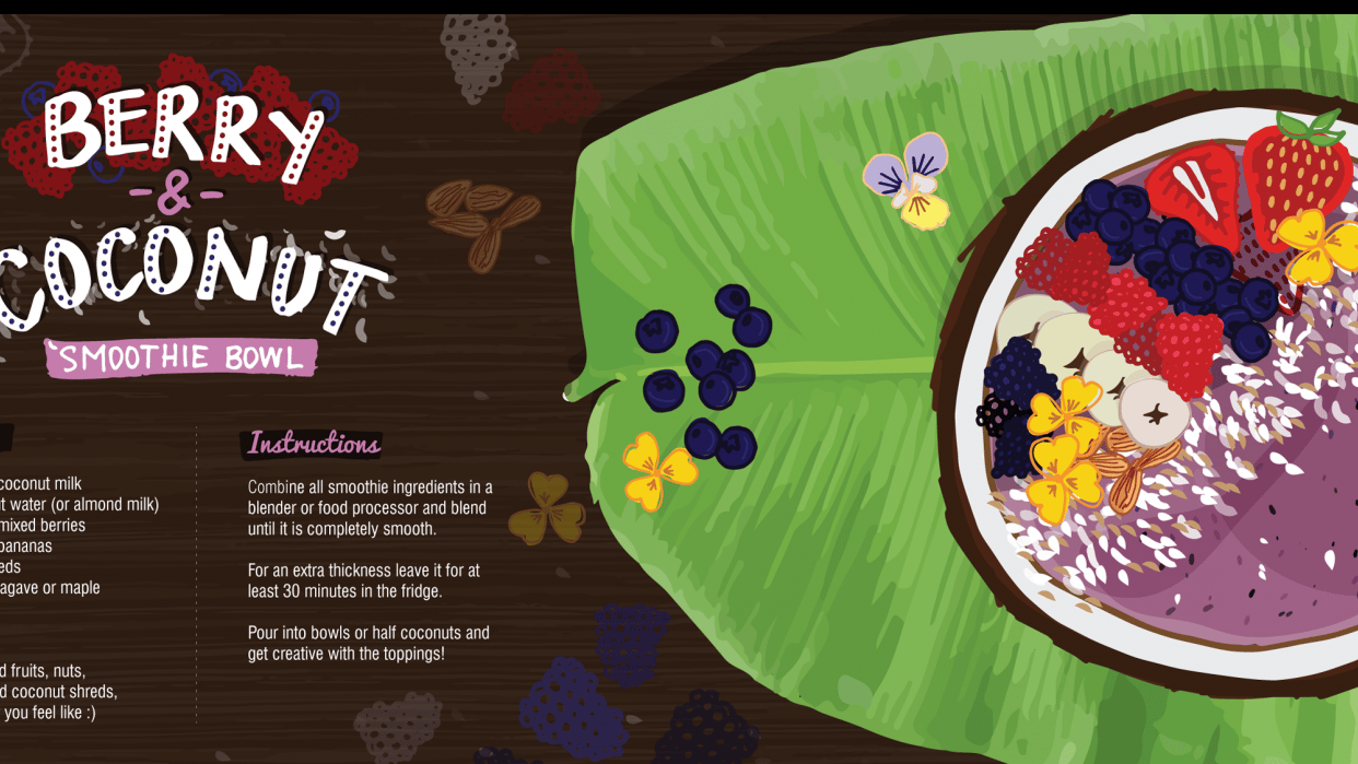 Berry & Coconut Smoothie Bowl - student project