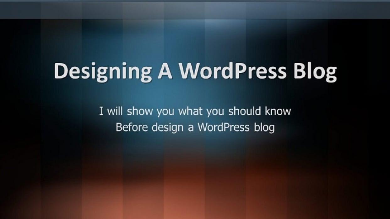 Designing A WordPress Blog - student project
