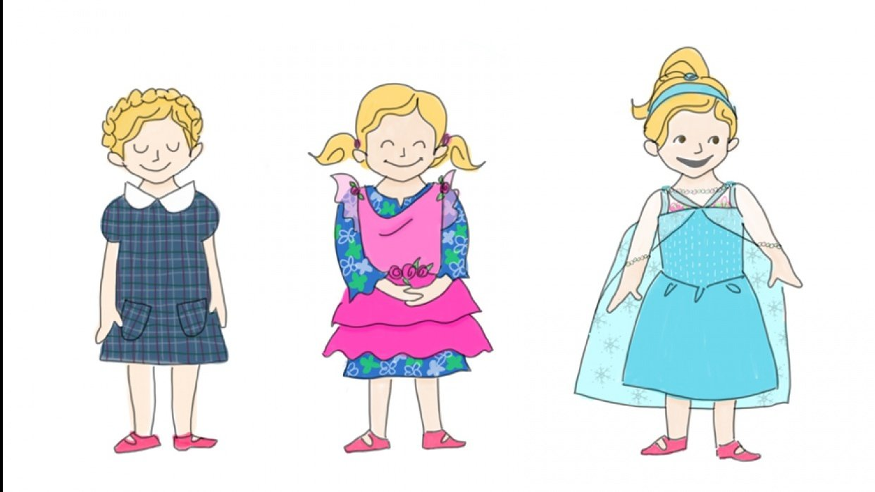 Olive's Kindergarten Fashions - student project
