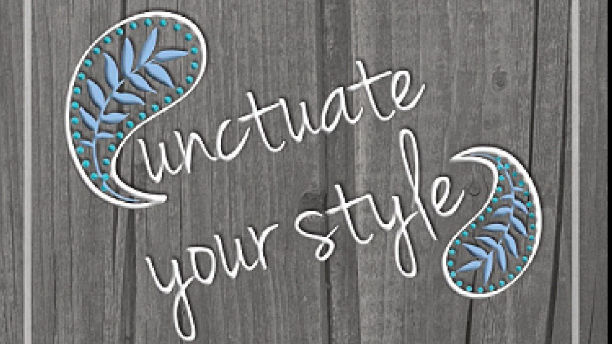 Punctuate Your Style - student project