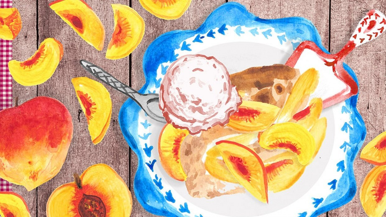 Yummy Peach Cobbler! - student project