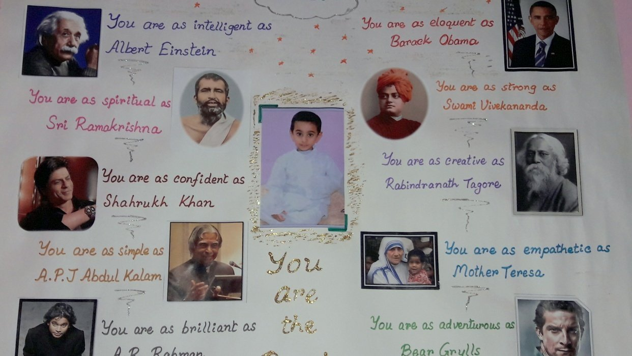 My vision chart for my son Aabeer - student project