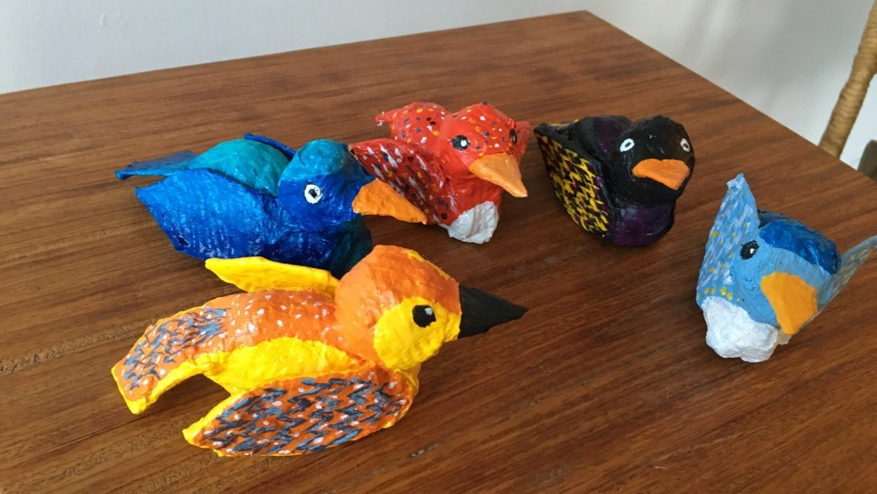 Birdies!  So fun! - student project