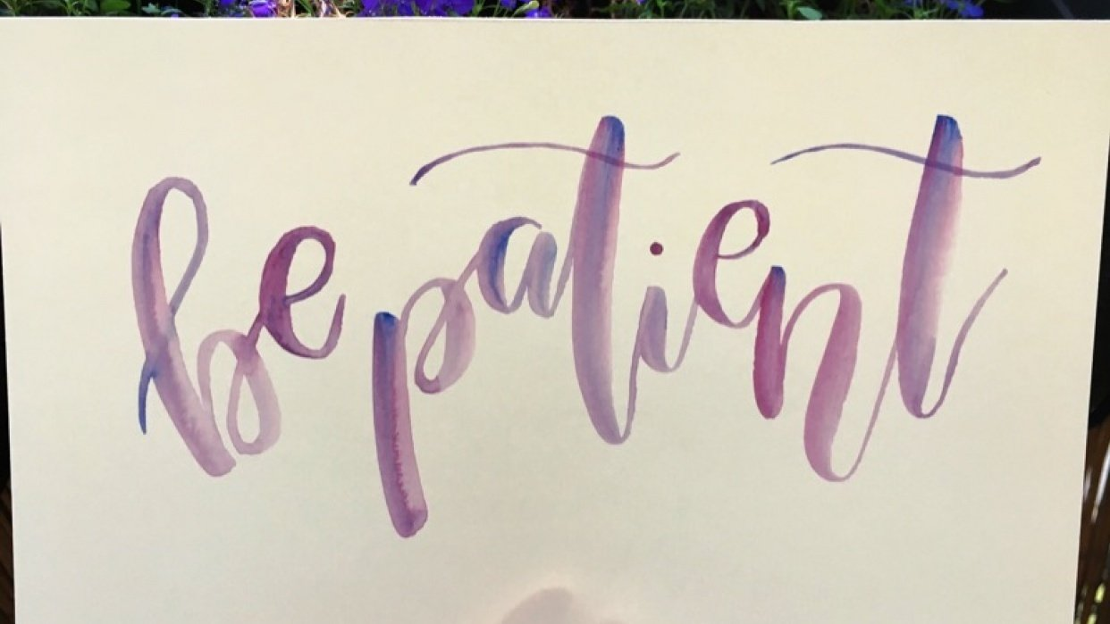 Watercolor bounce lettering all in one ! - student project