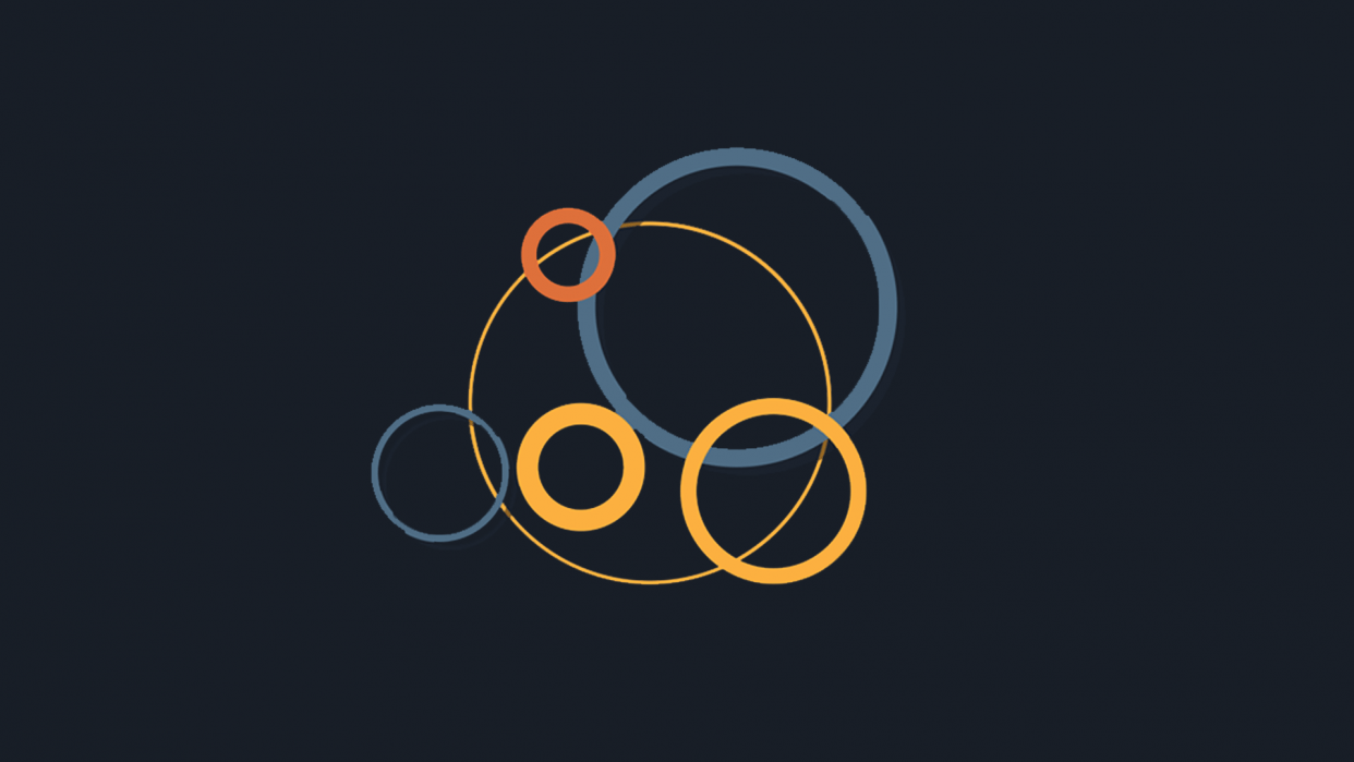 Circle accent graphics - student project