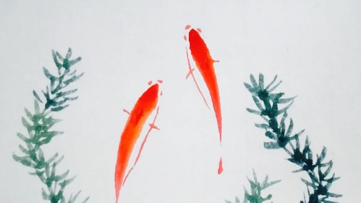 Paint Simple Oriental Style Fish - student project