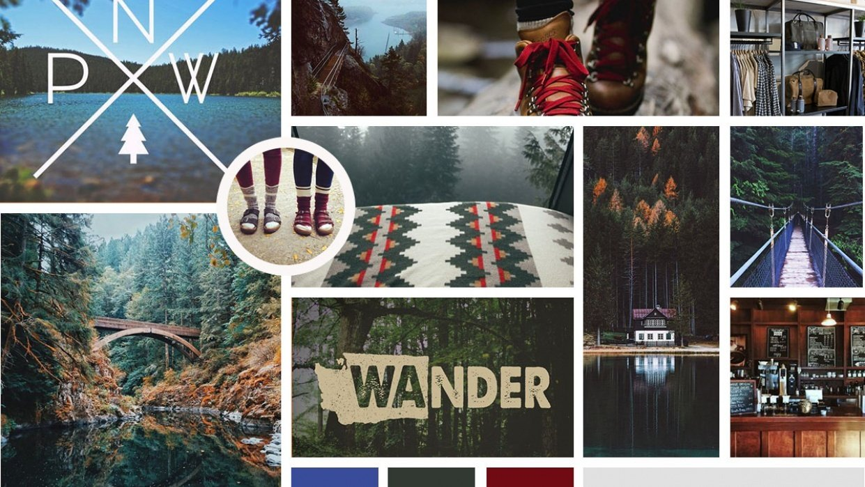 PNW Mood Board - student project