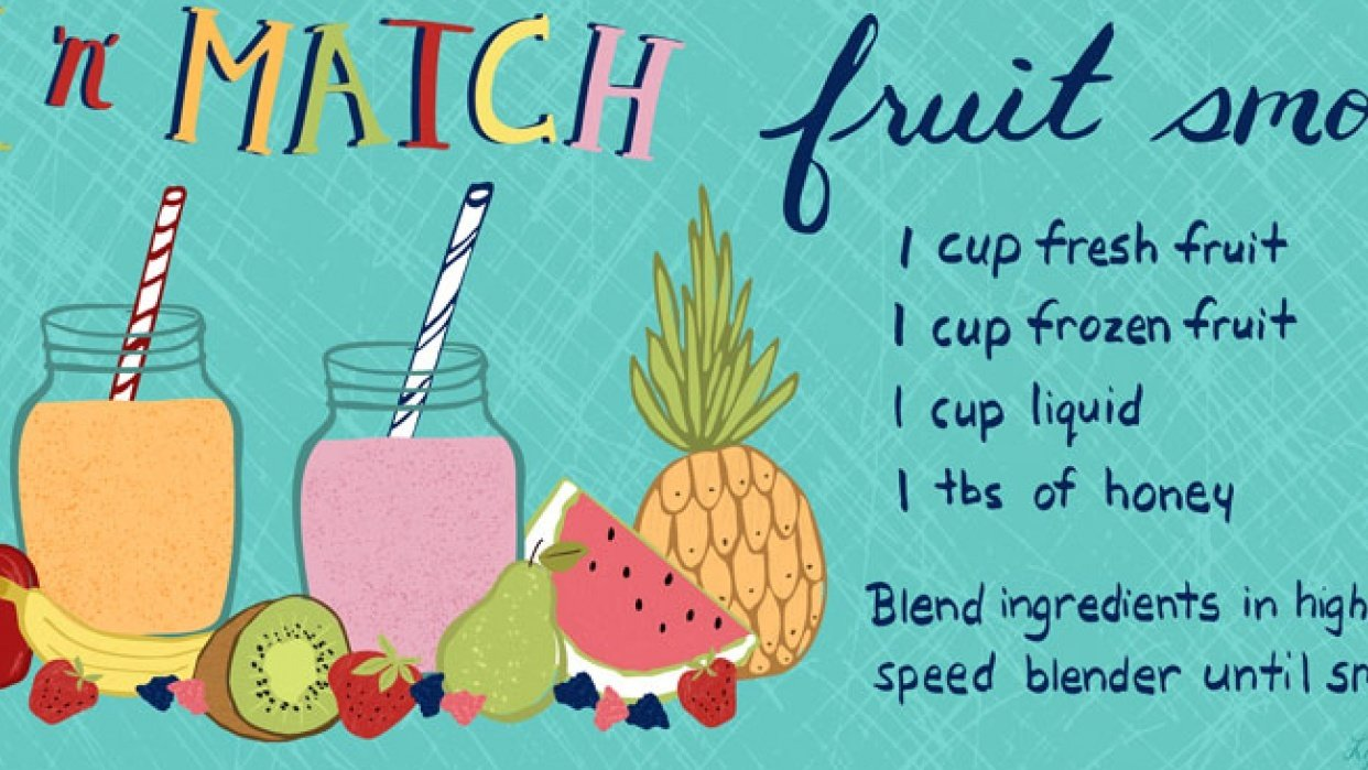 Mix 'n' Match Fruit Smoothie - student project