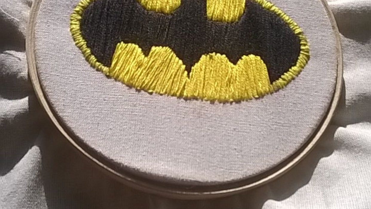 Batman Embroidery - student project