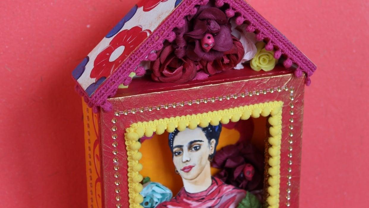 Shrine to Frida Kahlo - student project