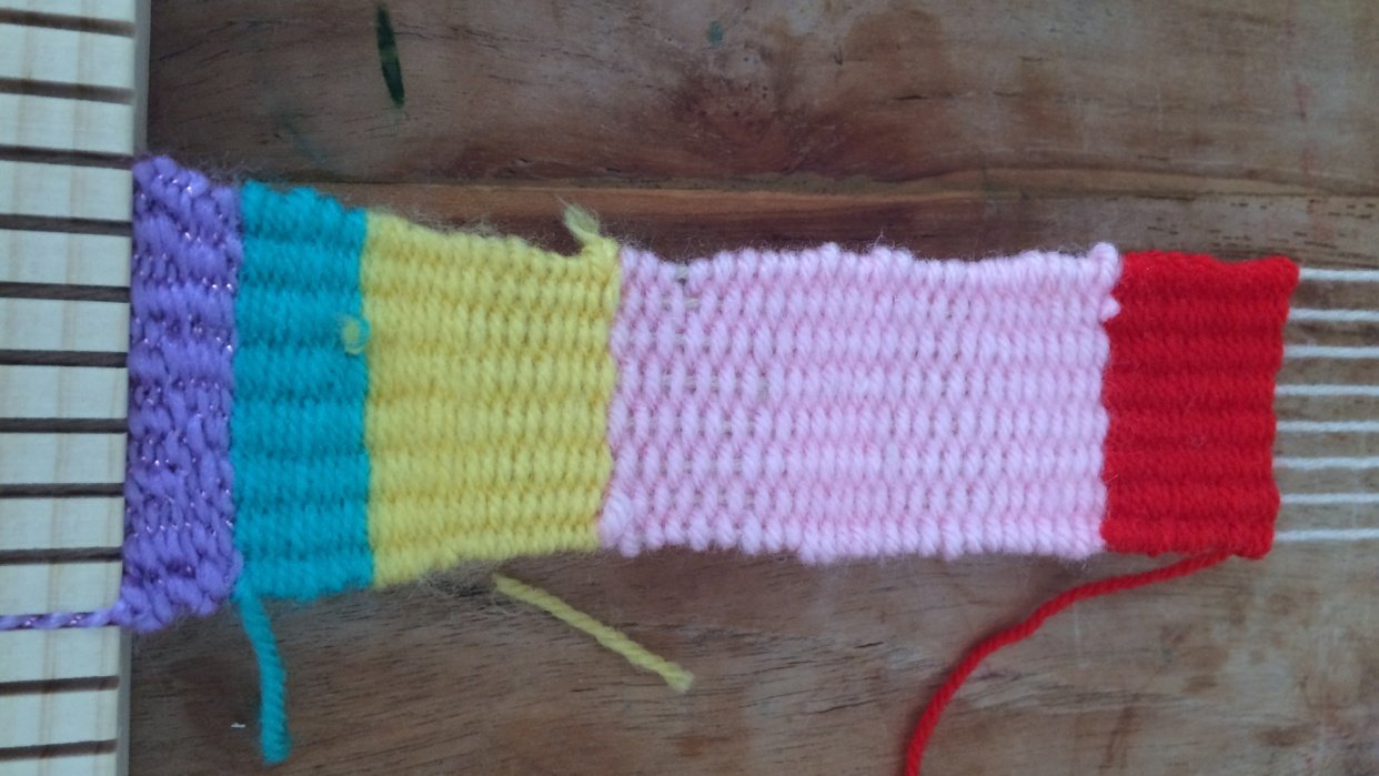 Little Saturday Morning Weaving project with my daughter - student project