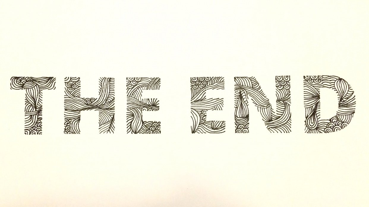 The End Doodle Font - student project