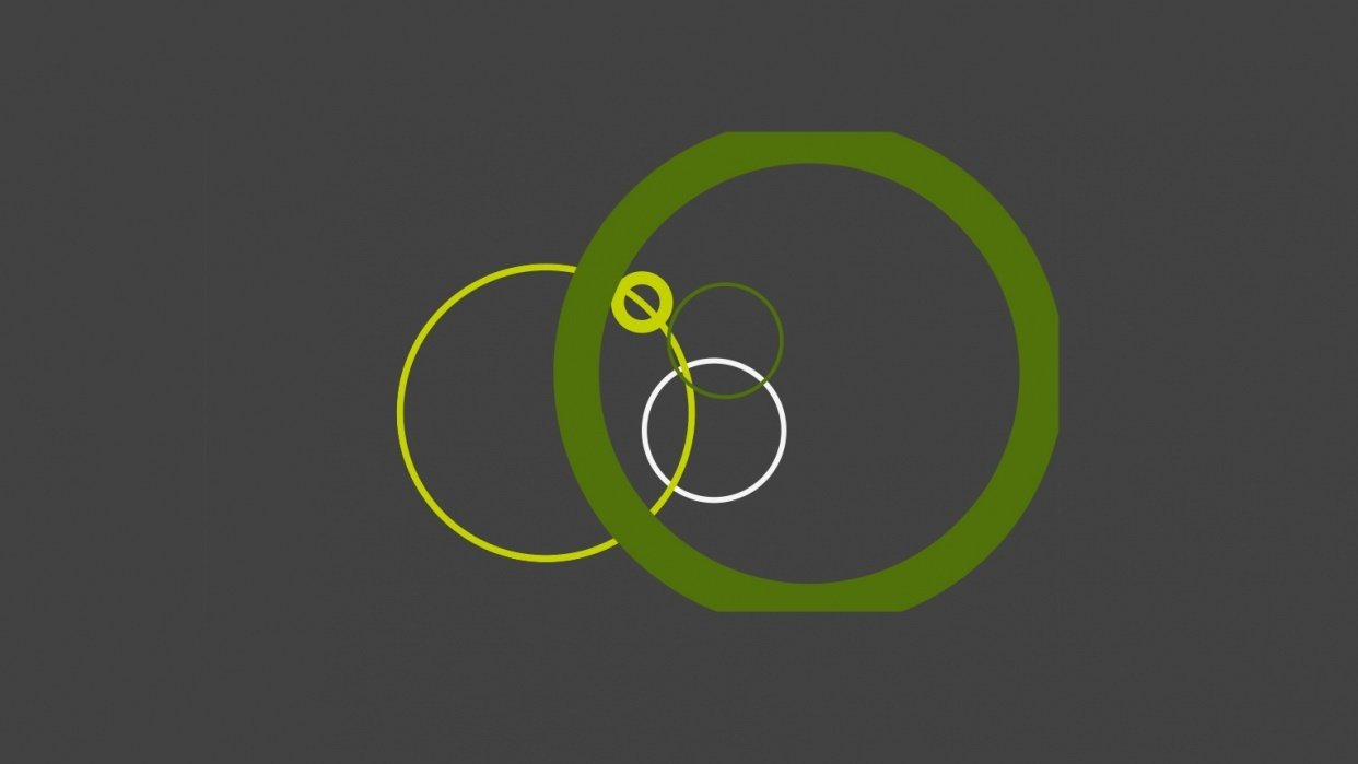 Green circles - student project