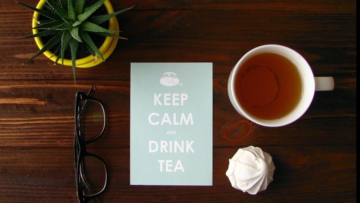 Tea flat lay - student project