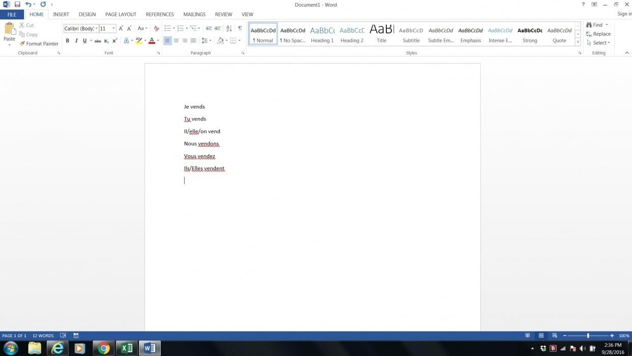 Verb screenshot - student project