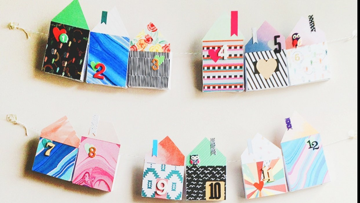 Make it: Fabric House Advent Calendar - student project