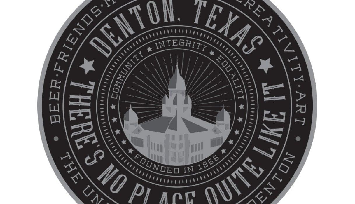 Denton Texas Sticker - student project