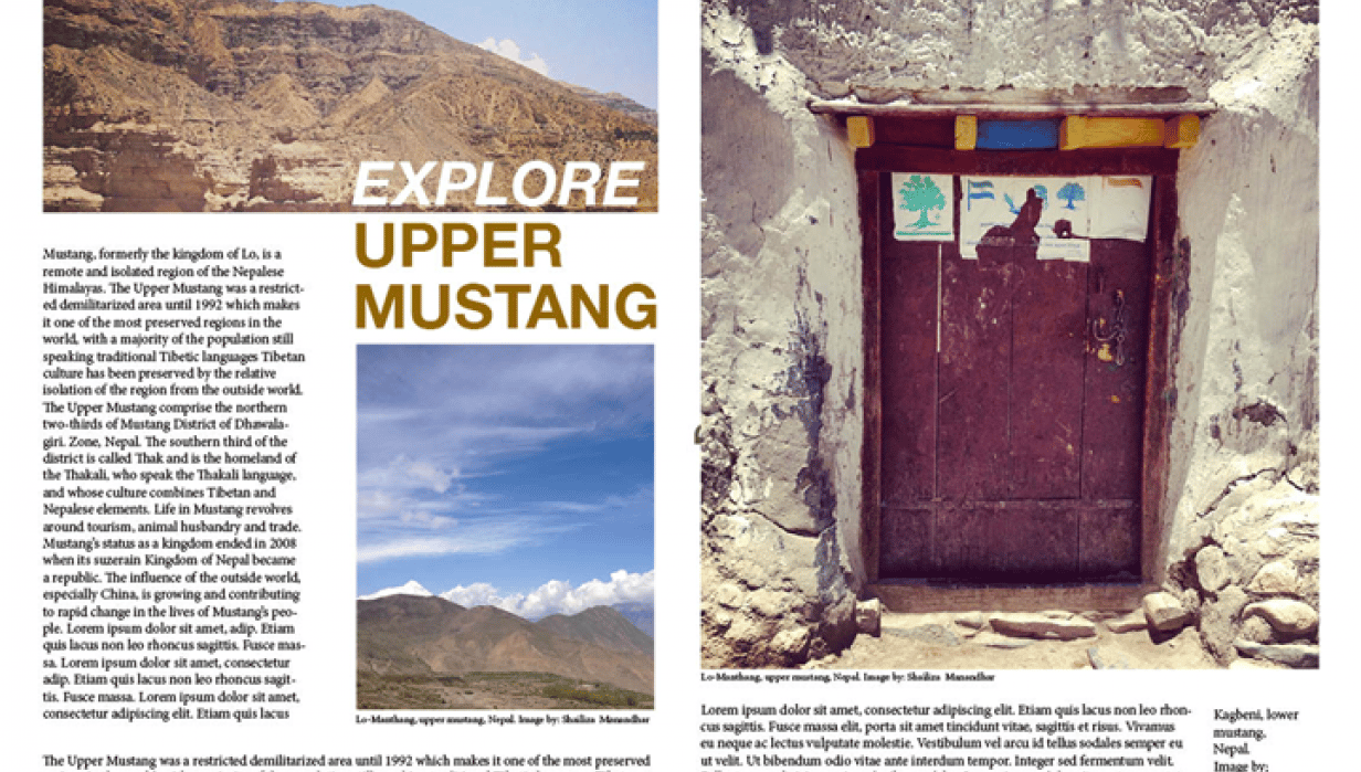 Explore Upper Mustang - student project