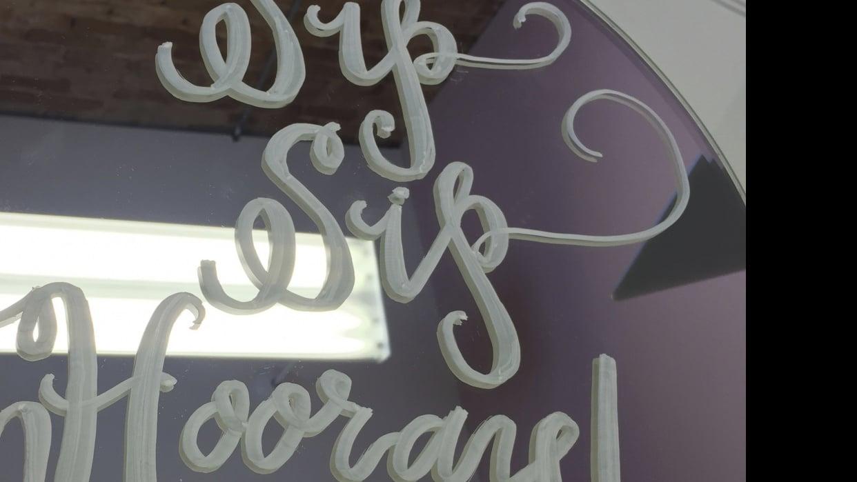 Sip Sip Hooray Mirror - student project