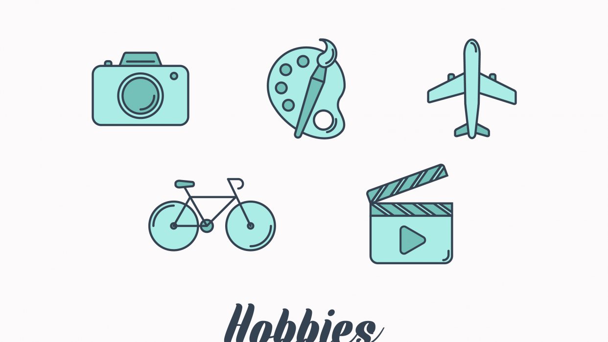 My hobbies icons - student project