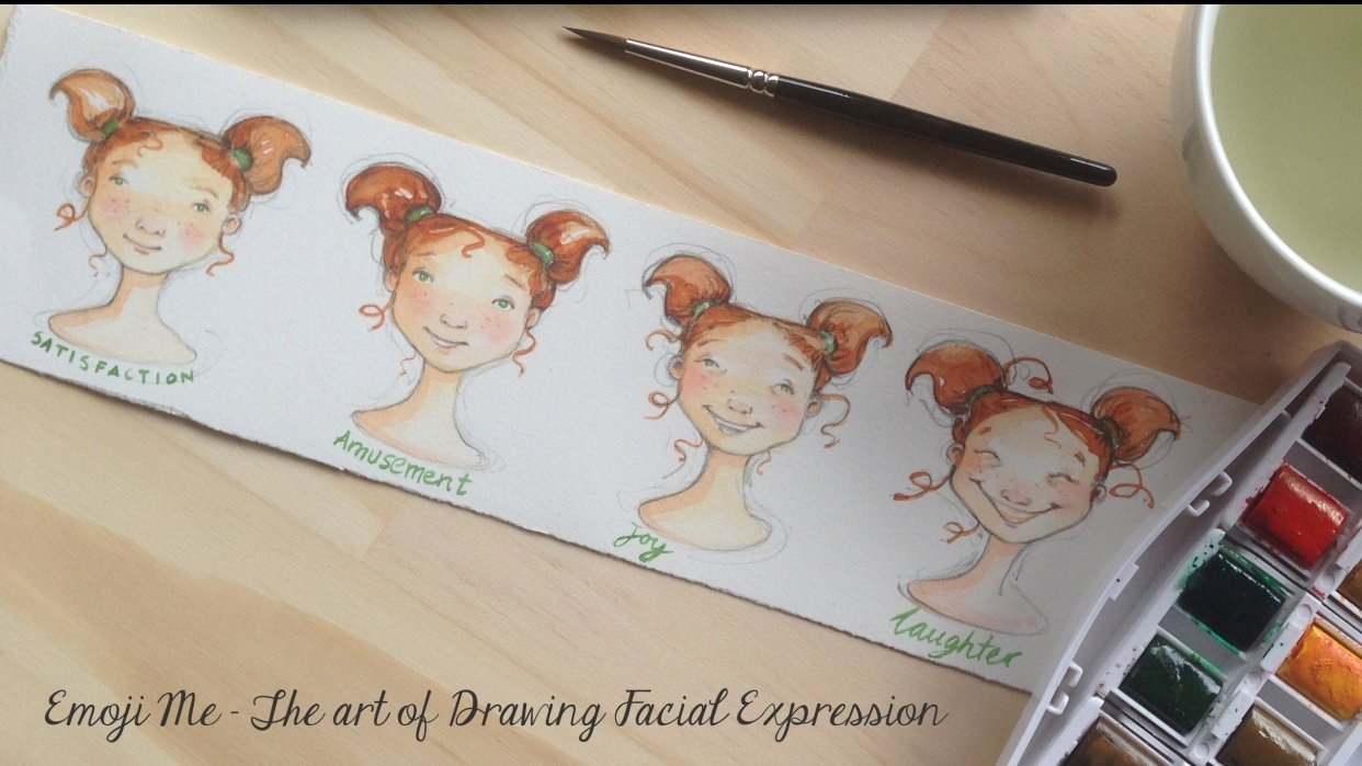 Emoji Me - The Art of Drawing Facial Expression. 'Joy!' - student project