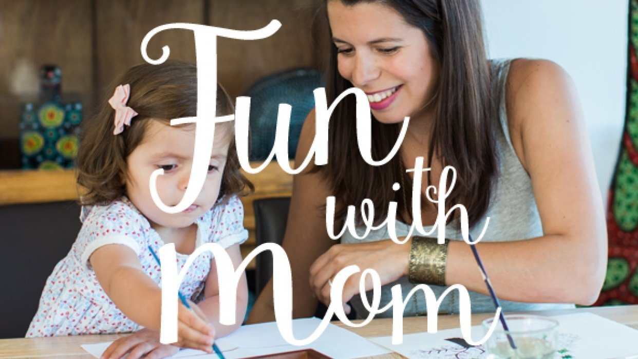 Fun with Mom: Make stamps for your toddler! - student project