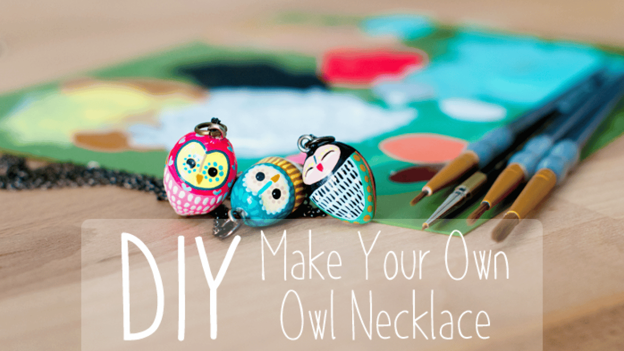 DIY: Make Your Own Owl Necklace - student project