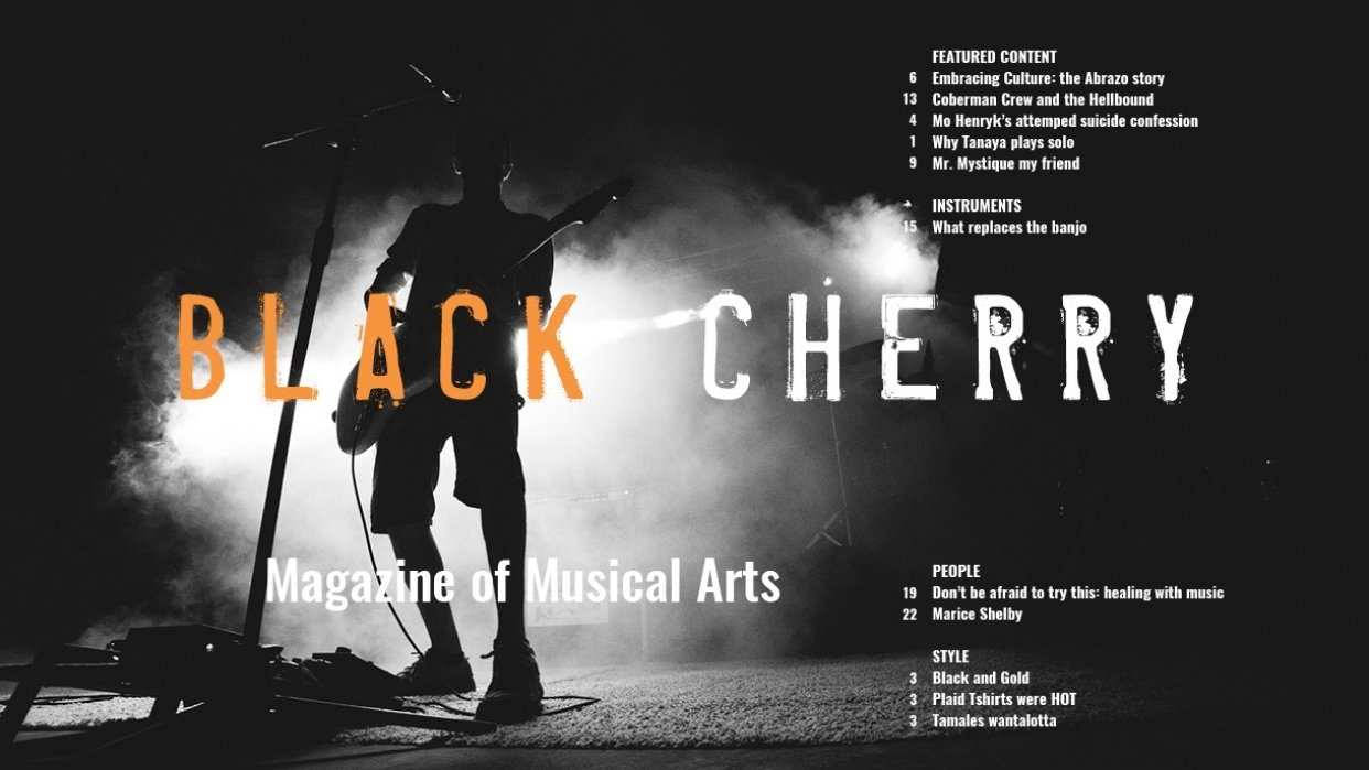 the BLACK CHERRY: my first attempt at a Magazine Spread - student project