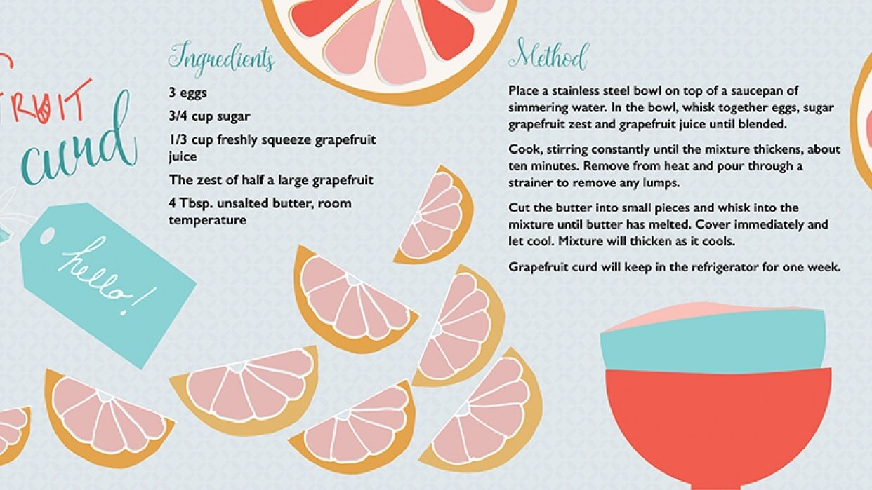 Grapefruit Curd - student project