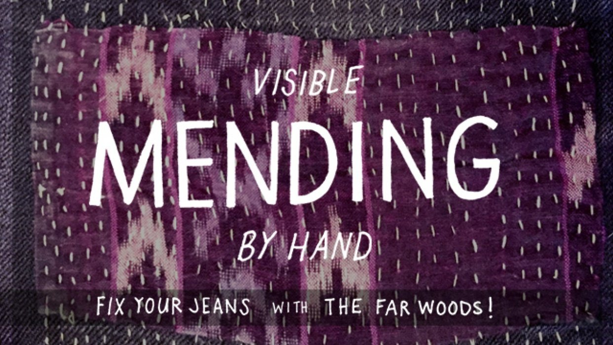 Intro to Visible Mending by Hand: Fix Your Jeans! - student project
