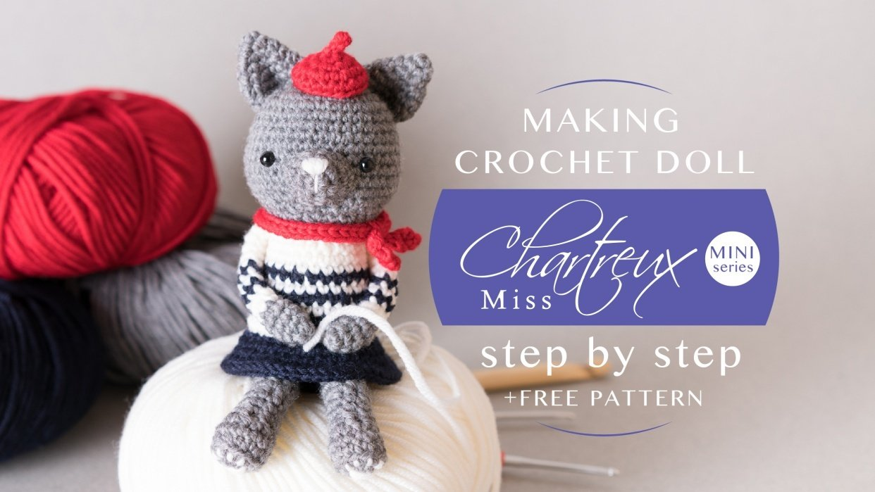 Making Crochet Doll step by step { +FREE PATTERN for you } - student project