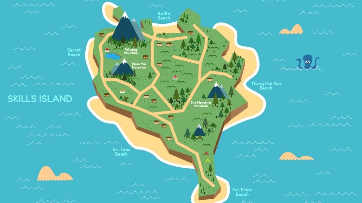 Koh Phangan island based map - student project