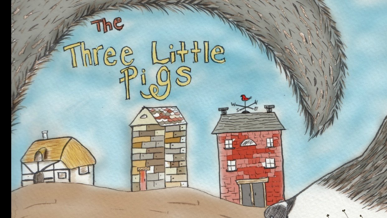 """My """"The Three Little Pigs"""" cover - student project"""