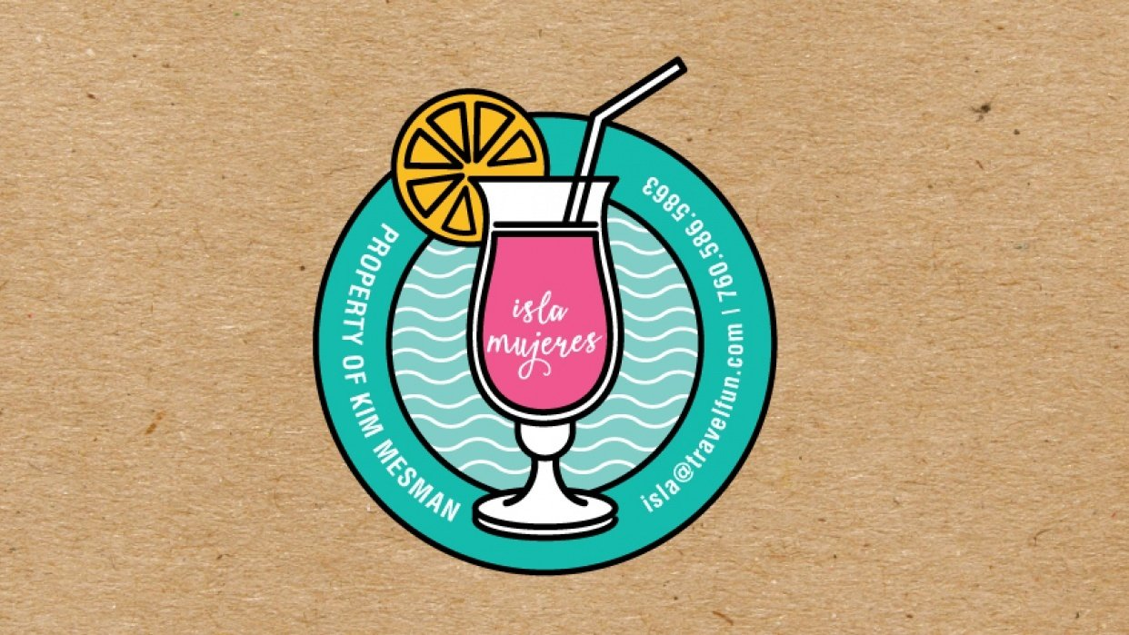 Isla Mujeres Travel Badge - student project