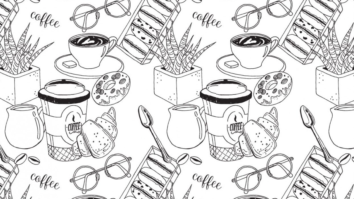 My coffee pattern:) - student project