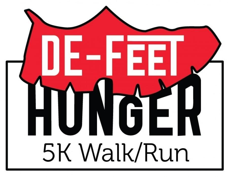 De-Feet Hunger 5k Charity Run Logo - student project