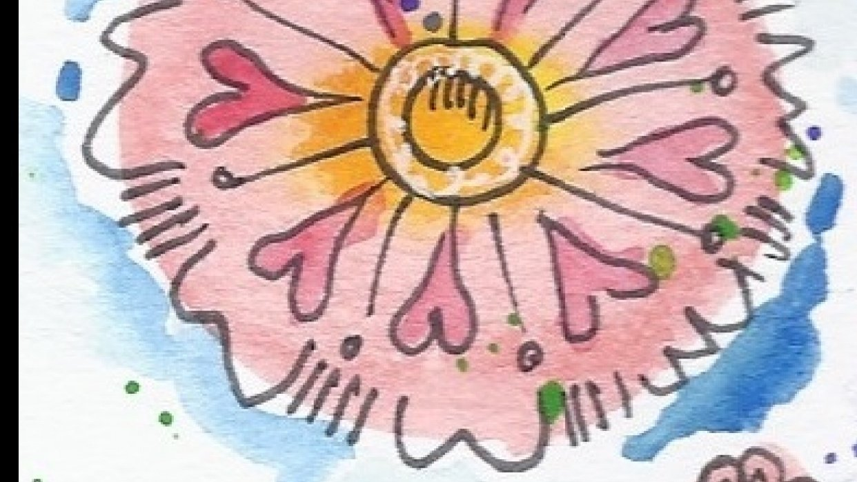 Water color flowers - student project