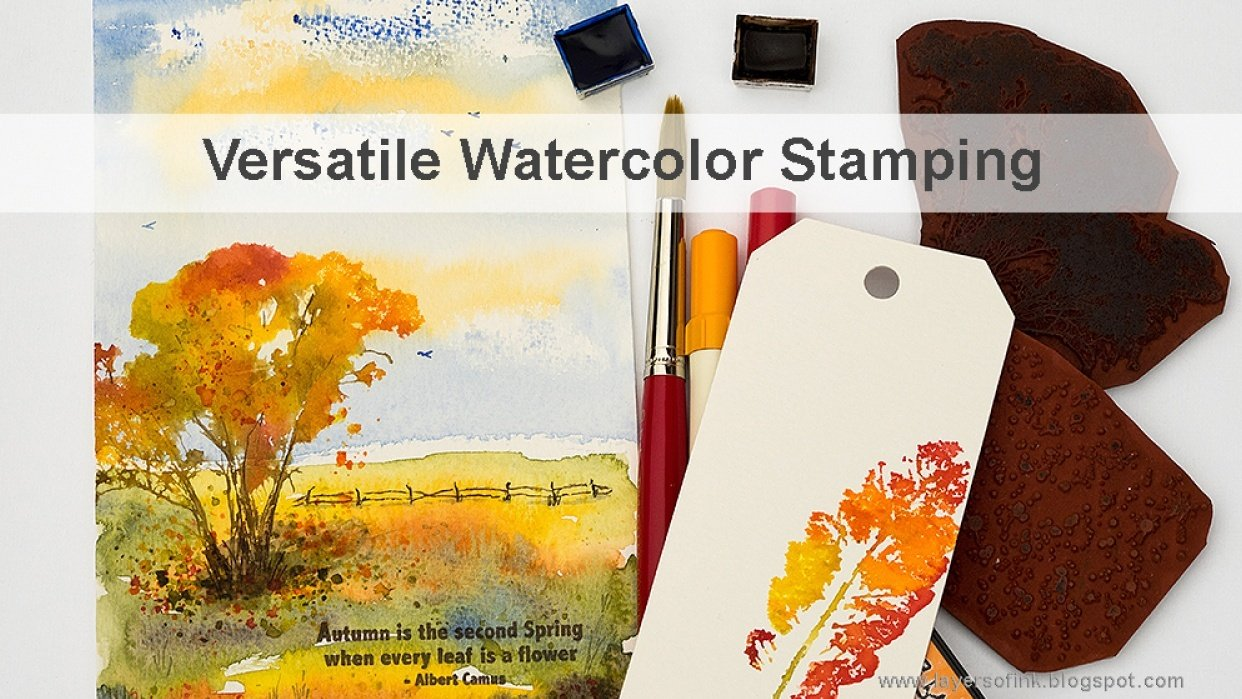 Versatile Watercolor Stamping - student project