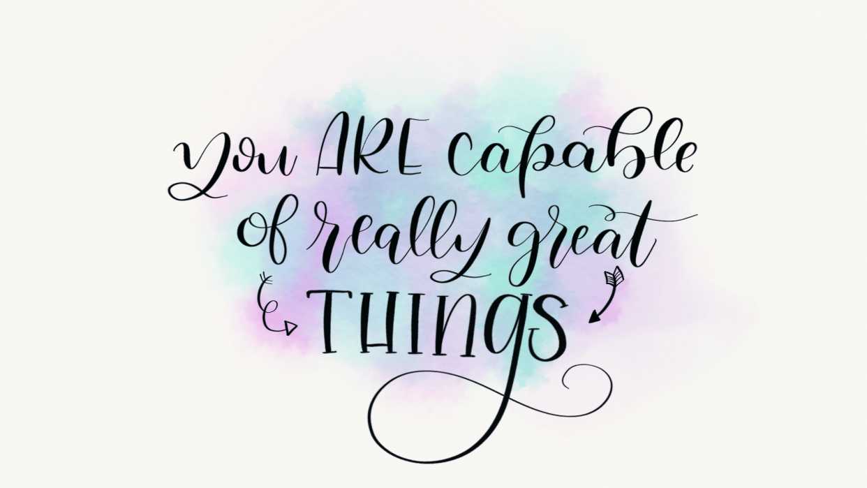 What I learned in Peggy's iPad Lettering course! - student project