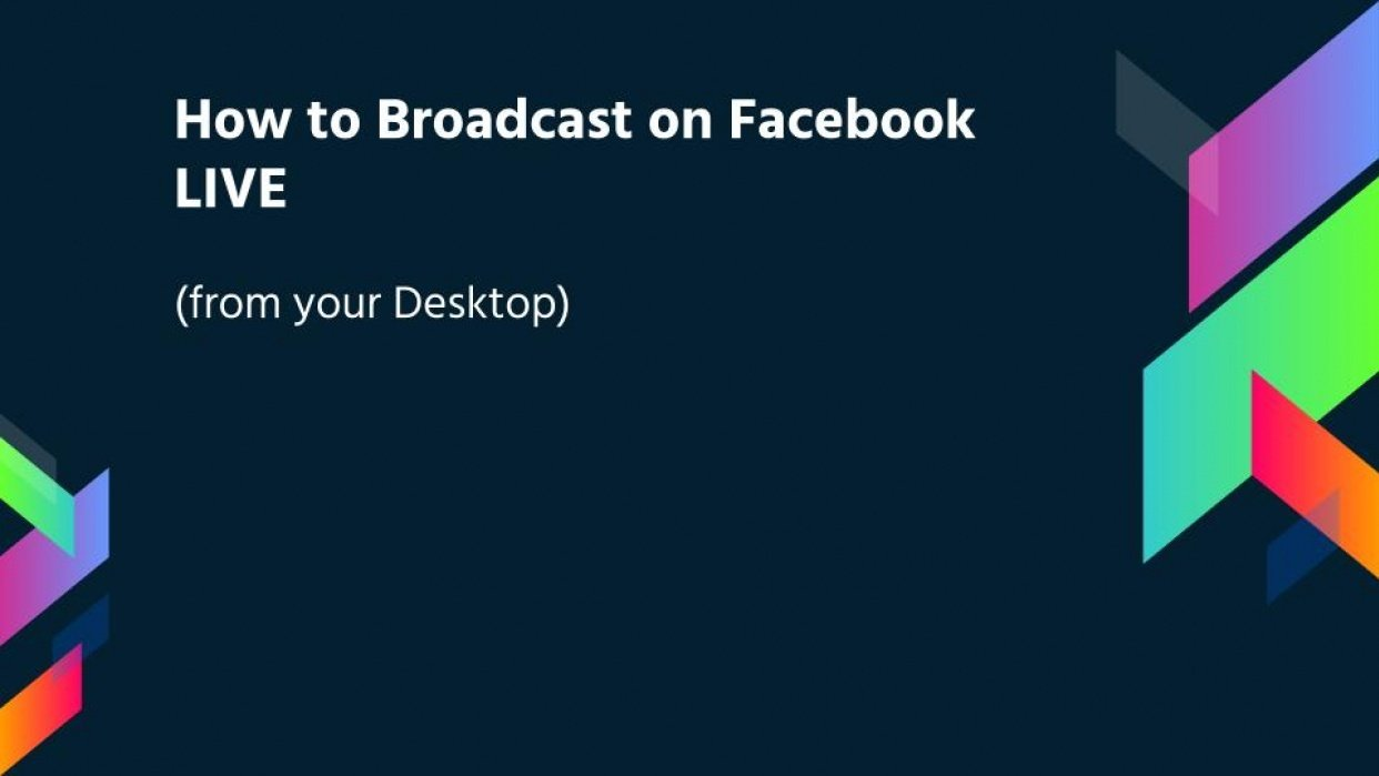 How to Broadcast to Facebook Live Video to Promote your Business - student project